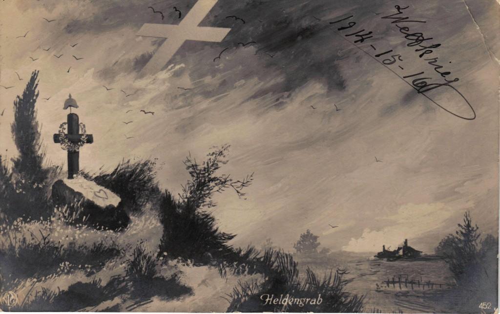 1916-04-25 LIR84 Otto Theodor Wagner - Heldengrab - Weltkrieg 1914-15-16