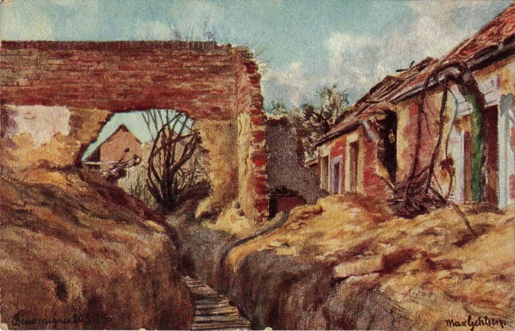 1916-06-13 LIR84 Otto Theodor Wagner - Karten von Bruder Willy von der Westfront 1916
