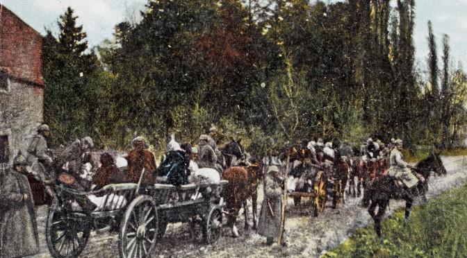 25. juli 1916. H. Rathje græd: Franske flygtninge på vej ud af Peronne