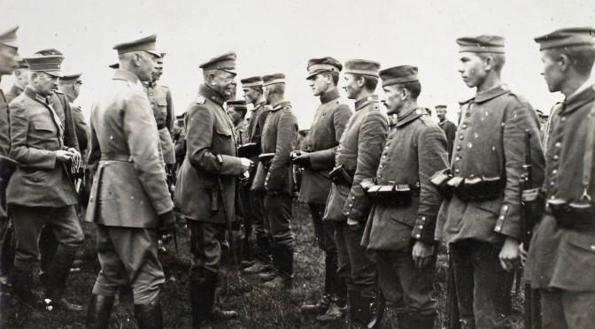 """13. april 1917. Efter slaget: """"Endnu den tredie Nat efter Stormen laa der saarede Stakler derude, som raabte om Hjælp"""""""