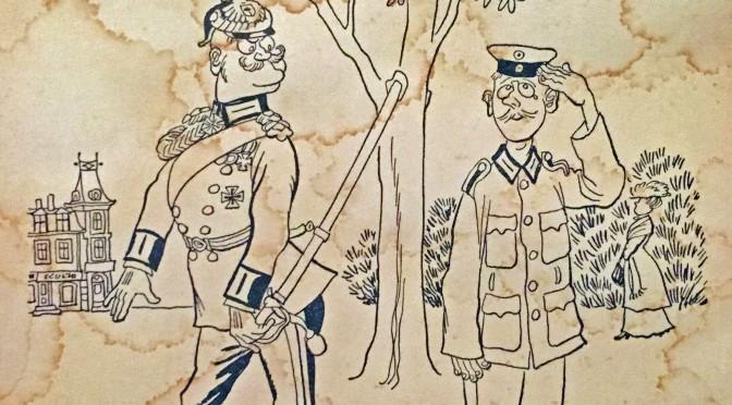 1. august 1917. Mads R. Dahl overfuset af officer midt i Haderslev