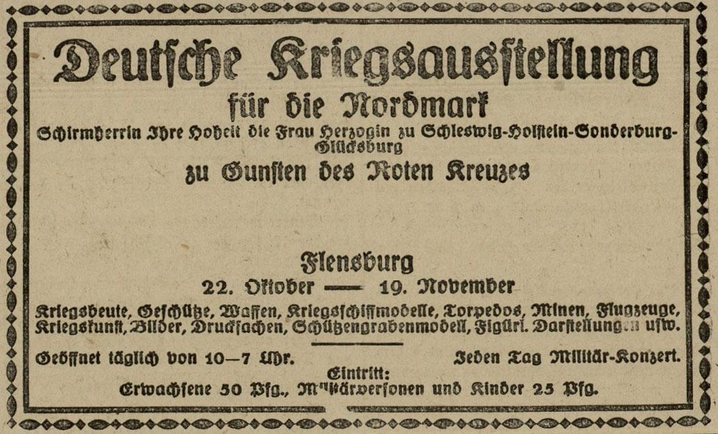 Krigsudstilling_annonce_FlA_21-10-1916