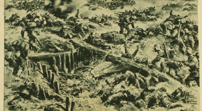 6. september 1916. Somme: Kl. 4 stiger fjenden ud af sine grave i tætte linjer!