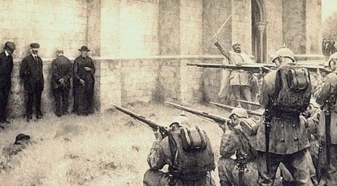 """8. oktober 1916. Jens Jørgensen henretter civile: """"… de stod der så helt værgeløse … Og vi skulle skyde dem ned …"""""""