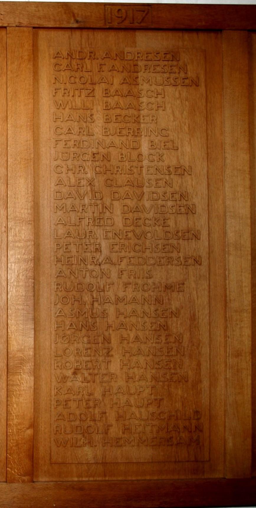 Del af mindetavle, Skt. Nicolai Kirke, Aabenraa