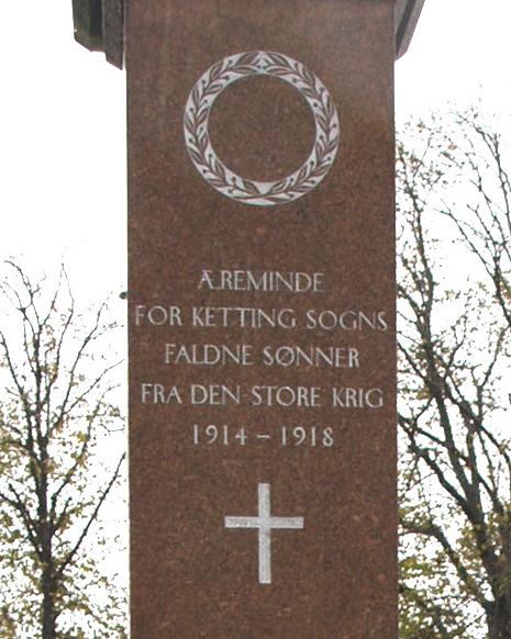 Del af mindesten, Ketting Kirkegård