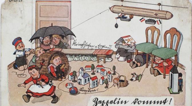 """31. marts 1917 – Fødselsdaghilsen: """"Zeppelin kommt"""""""