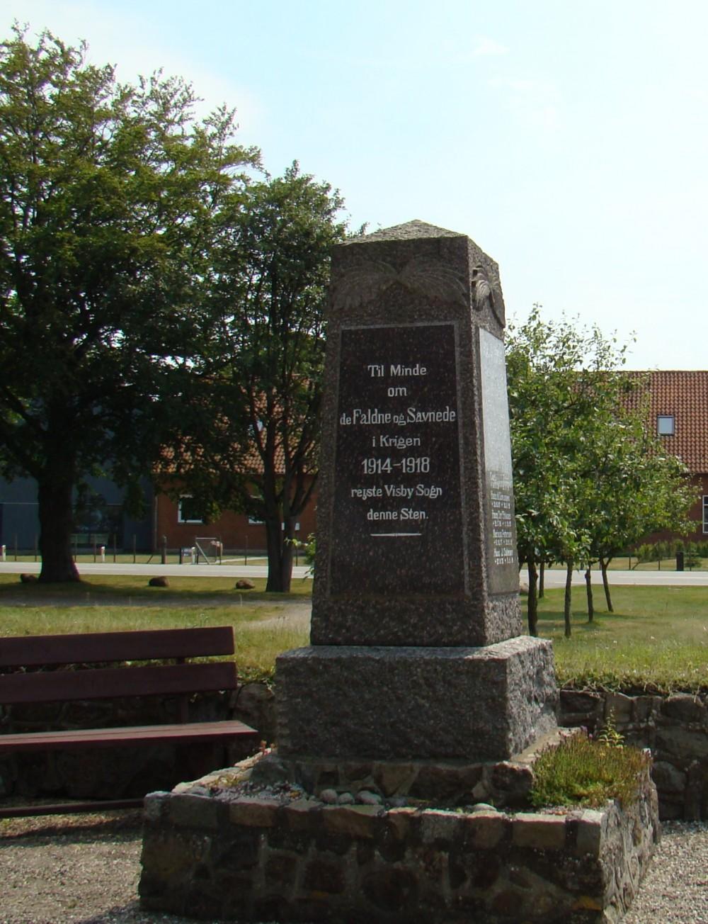 Mindesten, Visby Kirkegård