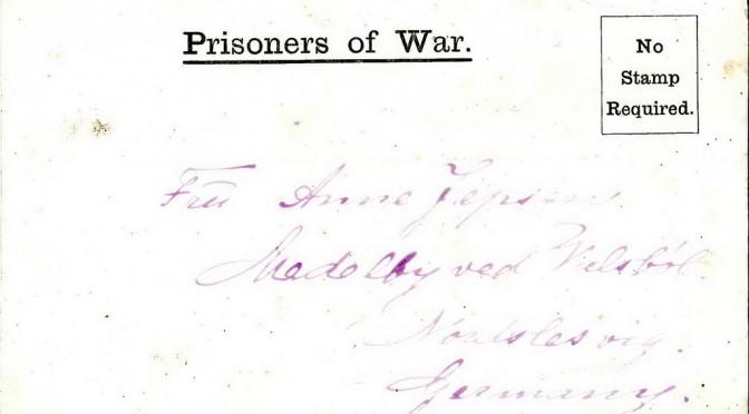 "10. april 1917 – Lorens Jepsen: ""tykke Overfrakker"""