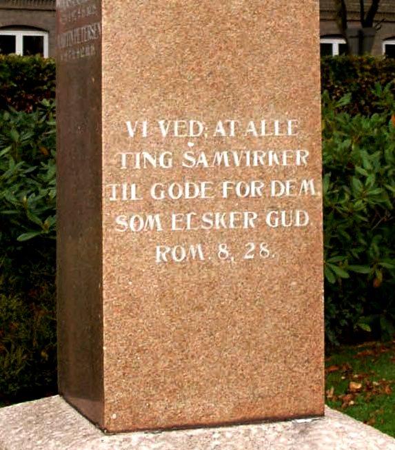 Detalje af mindesten, Tandslet Kirkegård