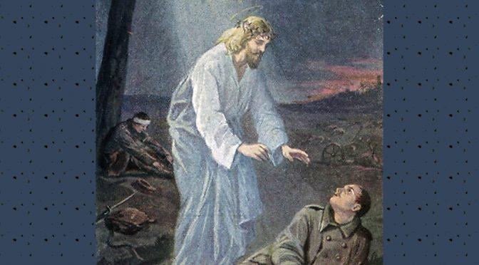 25. marts 1917. En bøn til Gud, før to kammerater skal på forpost