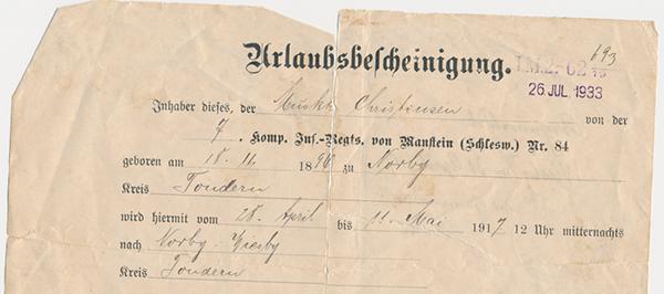 25. april 1917. Johannes Christensen: Vorherre har nok beredt ham et bedre hjem deroppe