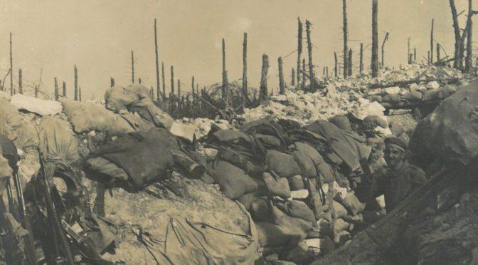 16. august 1917. Englænderne kom krybende enkeltvis