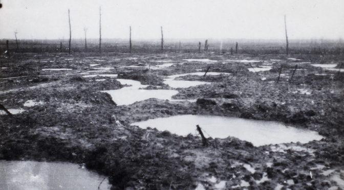"""2. august 1917 – Johannes Ankersen: """"… skyttegrave var der ikke nogen tilbage af"""""""