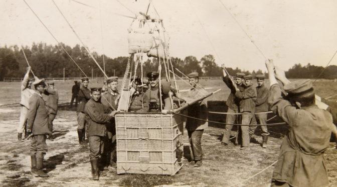 5. juli 1917. Morse-øvelse i 600 meters højde.