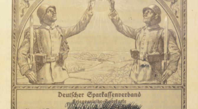 """3. juli 1917. """"Hvorledes tyske Soldater tegner Krigslaan"""""""