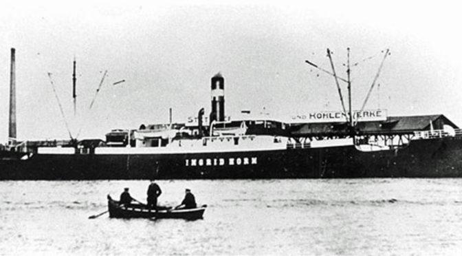 """31. juli 1917. """"Frygtelig Ulykke!"""" – tysk damper vædret i Østersøen"""