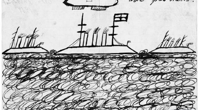 14. august 1917. Saa sprang jeg op og flygtede ja til det fremmed Land jeg reiste bort fra Slaget.