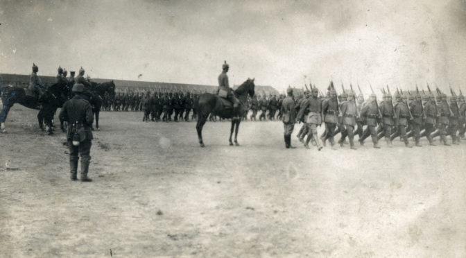 13. september 1917. 86'erne i parade for Kronprins Rupprecht