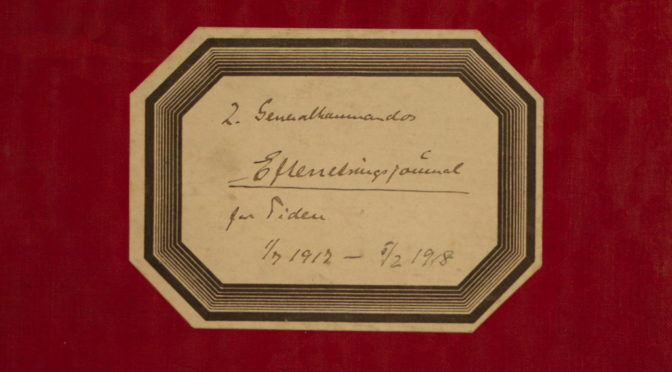 """12. oktober 1917 – Fra Efterretningssektionens journal: """"… ikke mere er stationeret Luftskibe"""""""