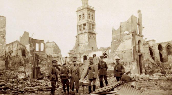 "6. november 1917 – Danske officerer på vestfronttur: ""… i de yderste Skyttegravslinier"""