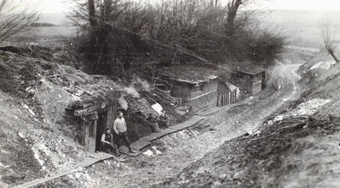 17. februar 1918. Regiment 86 i stilling på Vestfronten