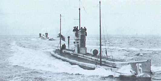 9. august 1914. U15 sænket. Nikolaj Hansen Wolf fra Egernsund dræbt.