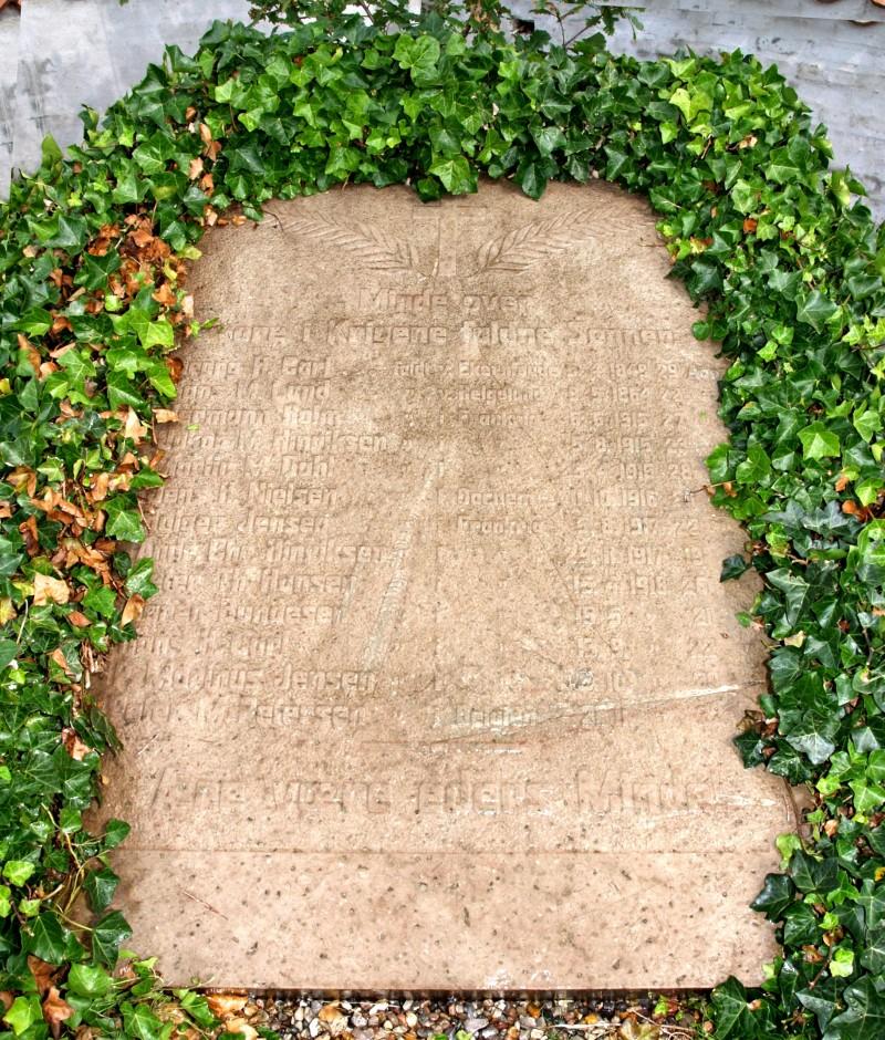 Mindesten, Rømø Kirkegård
