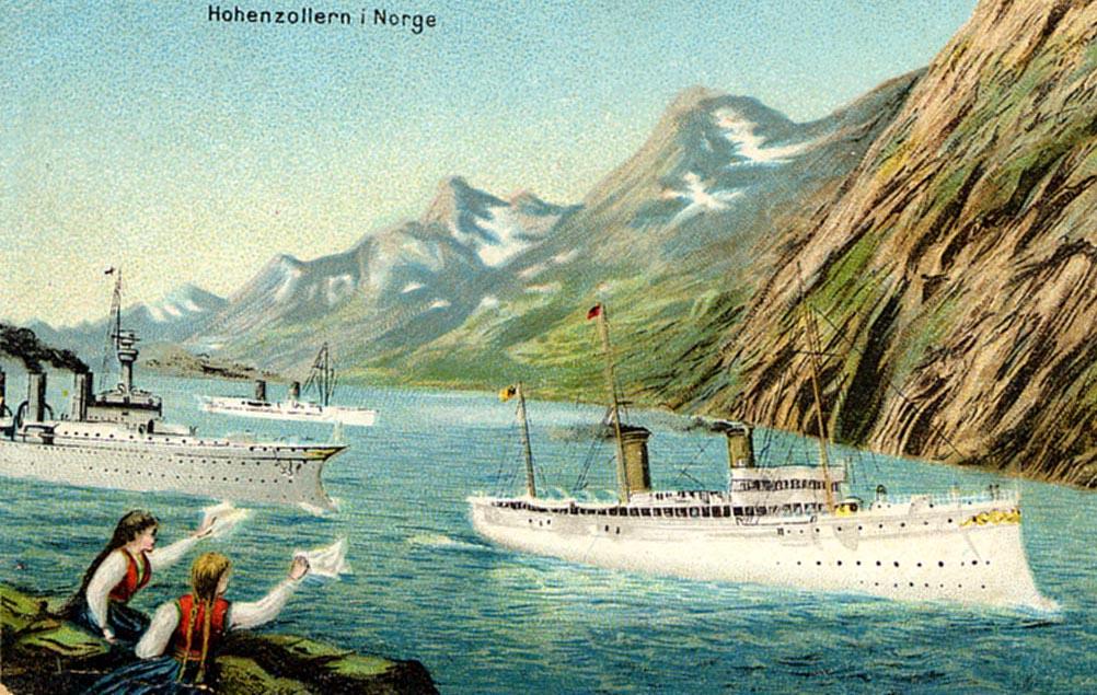 7. juli 1914. Kejser Wilhelm II passerer Årøsund