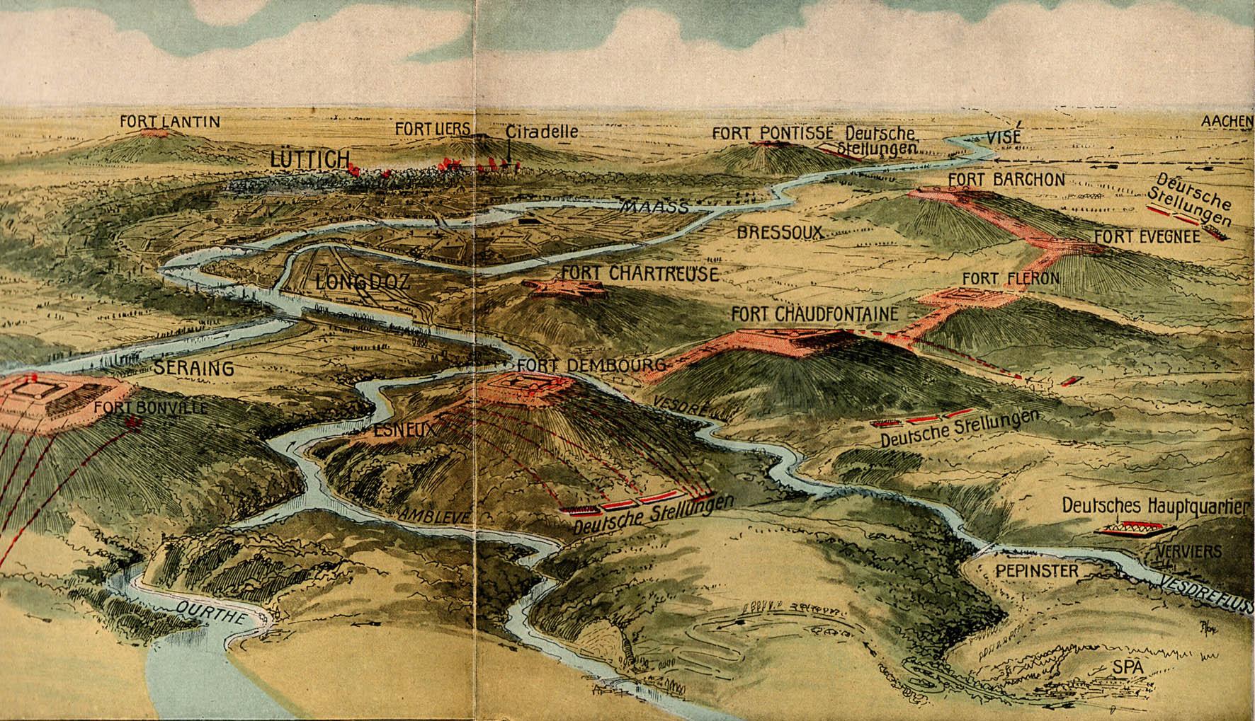 13. august 1914. 84'erne og 86'erne ved Fort Fléron i Belgien
