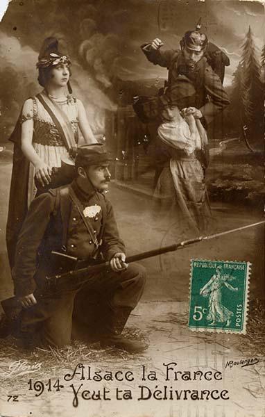 25. marts 1917. Blandt venner i Elsass