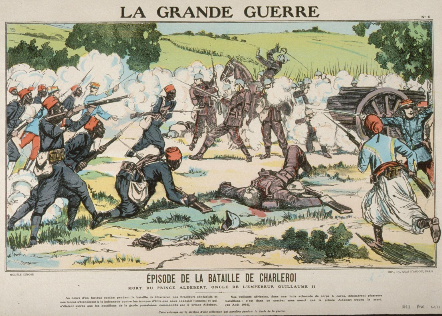14. august 1914. Frankrig i offensiven i Vogeserne