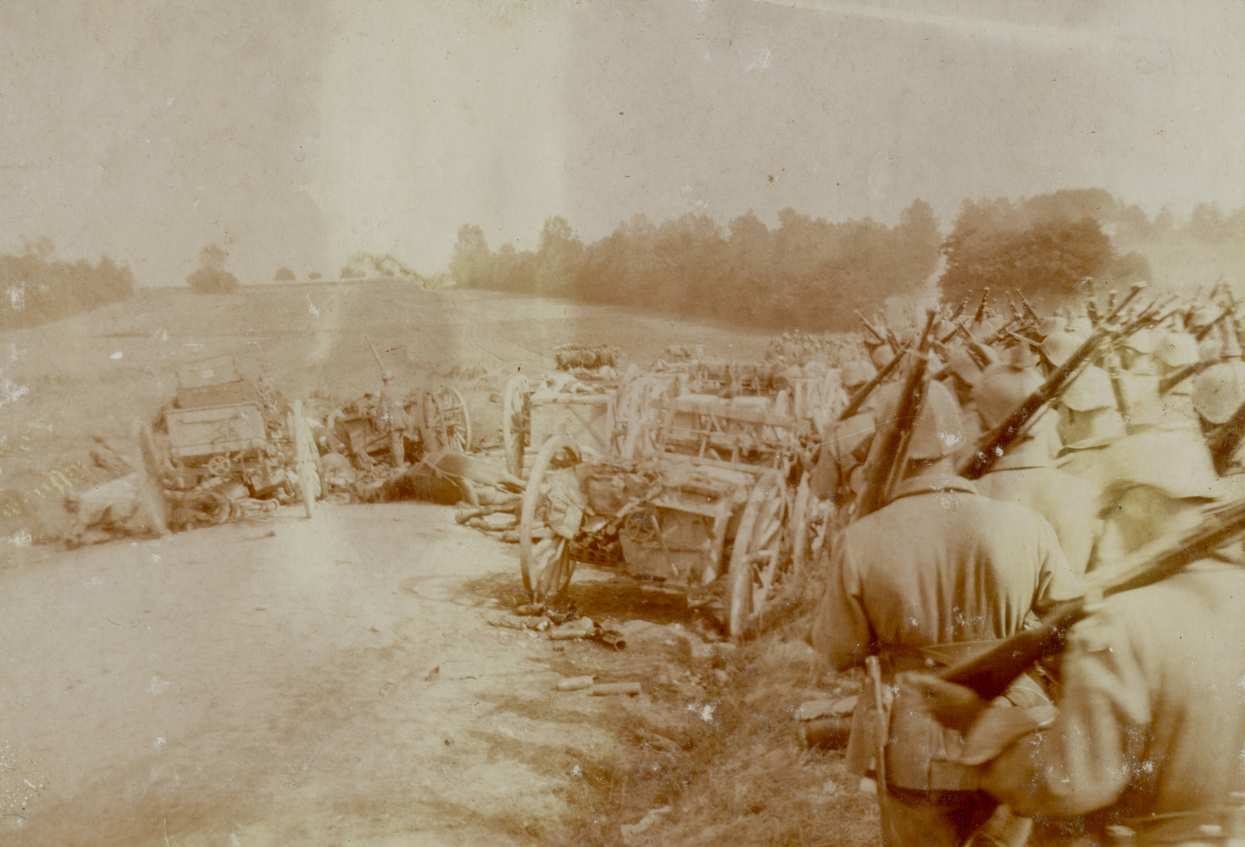 """1. september 1914. """"Vi har marcheret hver dag i den brændende solhede …"""""""