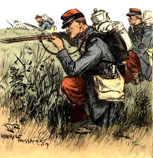"""19. oktober 1914. På patrulje: """"Jeg trykkede Brystet mod Jorden og gjorde mig saa lille som muligt"""""""