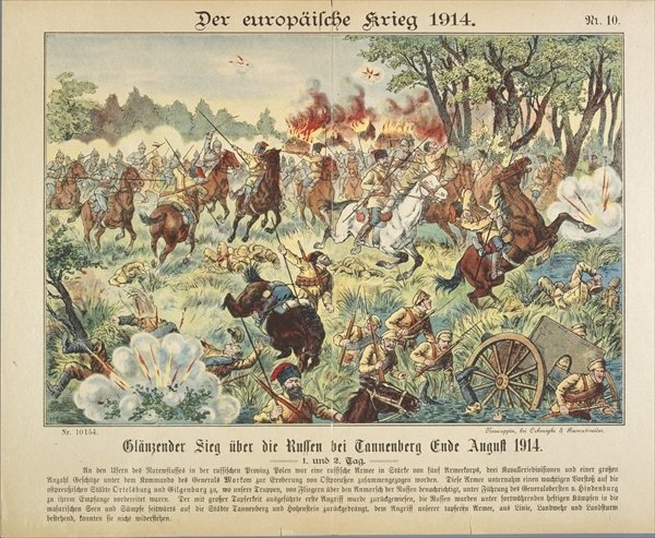 29. august 1914. Slaget ved Tannenberg. Kampe ved Amiens.