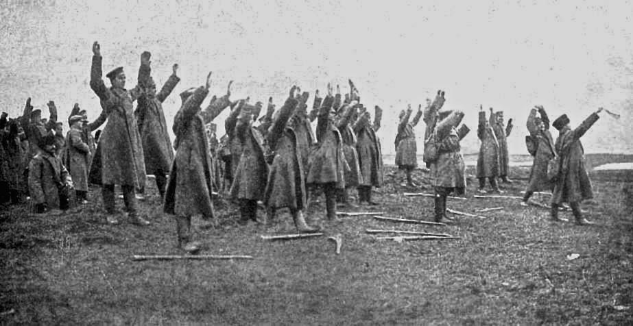 """15. november 1914. """"Russerne kom viftende med små hvide flag"""""""