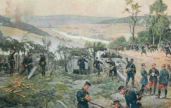 31. august 1914. Franskmænd og russere på tilbagetog