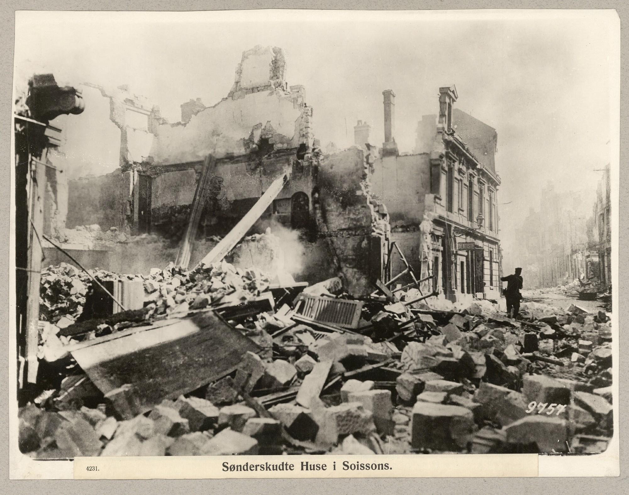"""22. januar 1915. """"Det var en værre tur, vi der var på ved Soissons."""""""