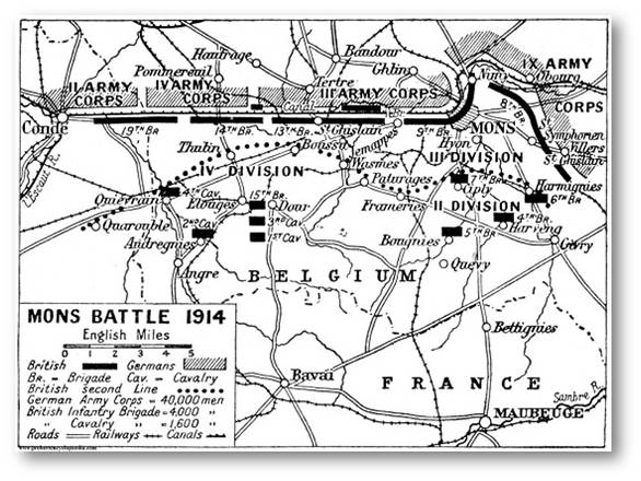 23. august 1914. Regiment 86 i slaget ved Mons
