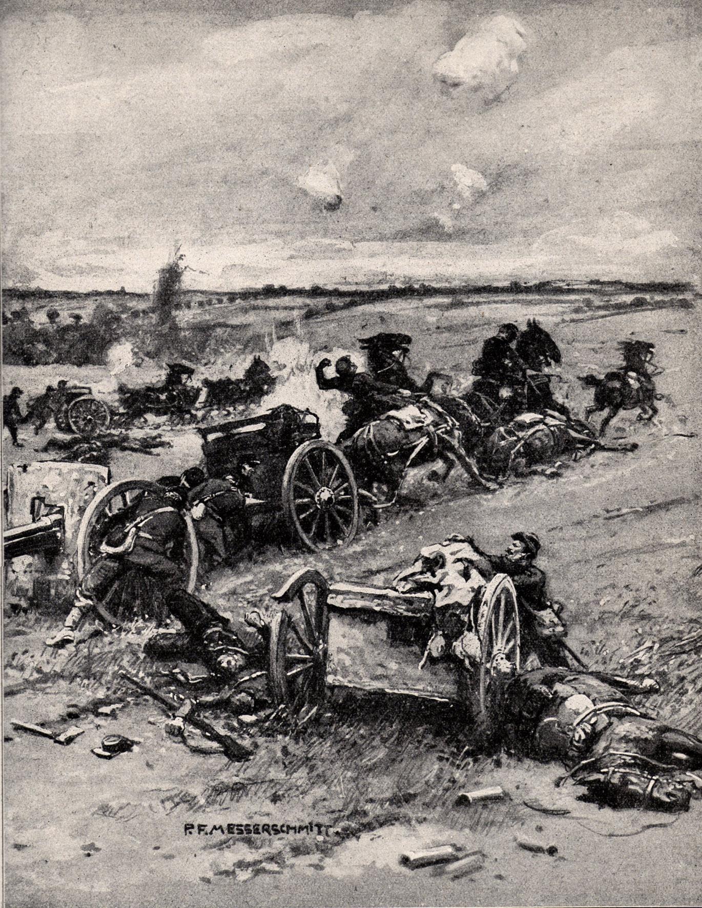 """18. august 1914. """"Pludselig rev han geværet til kinden og skød den ulykkelige en kugle gennem hovedet."""""""