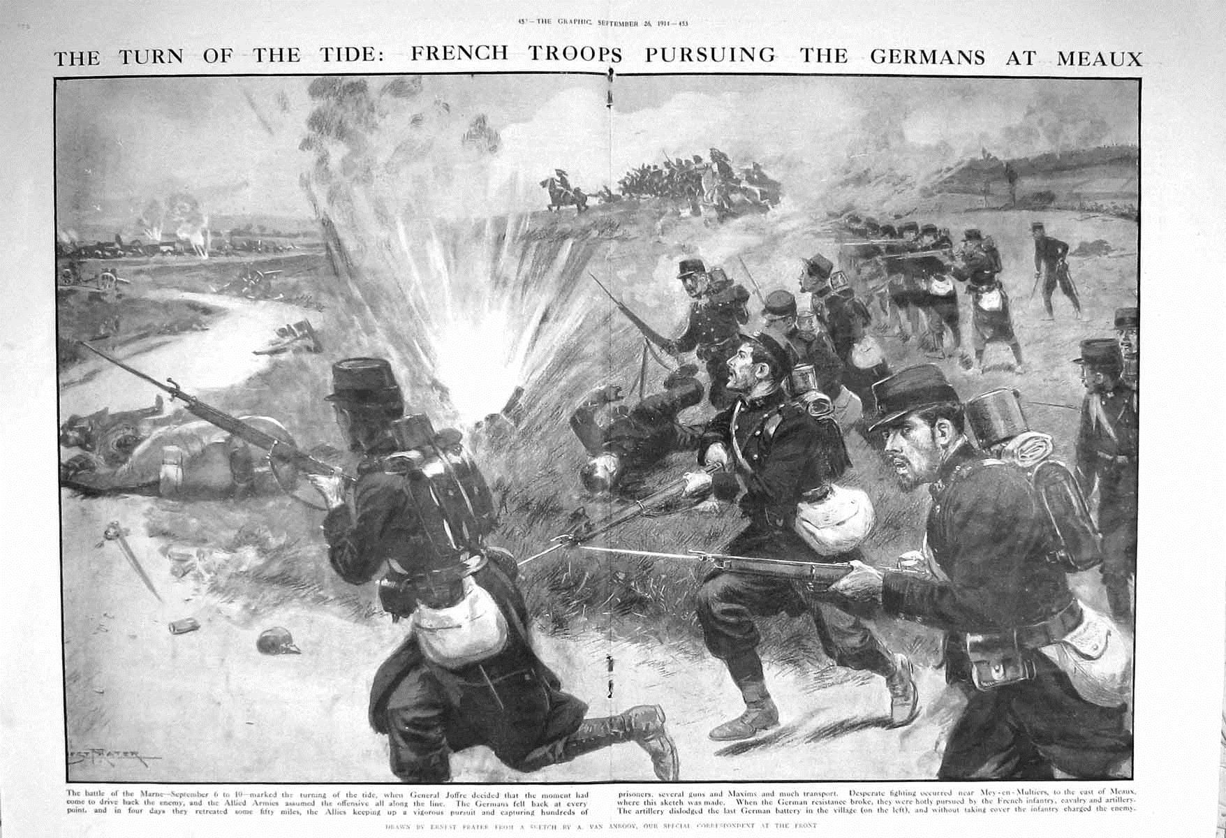8. september 1914. Fortsatte kampe ved Marne