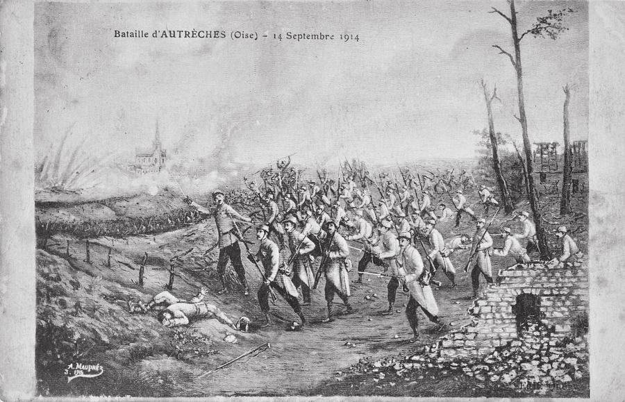 14. september 1914. Franskmændene graver sig tætter på.