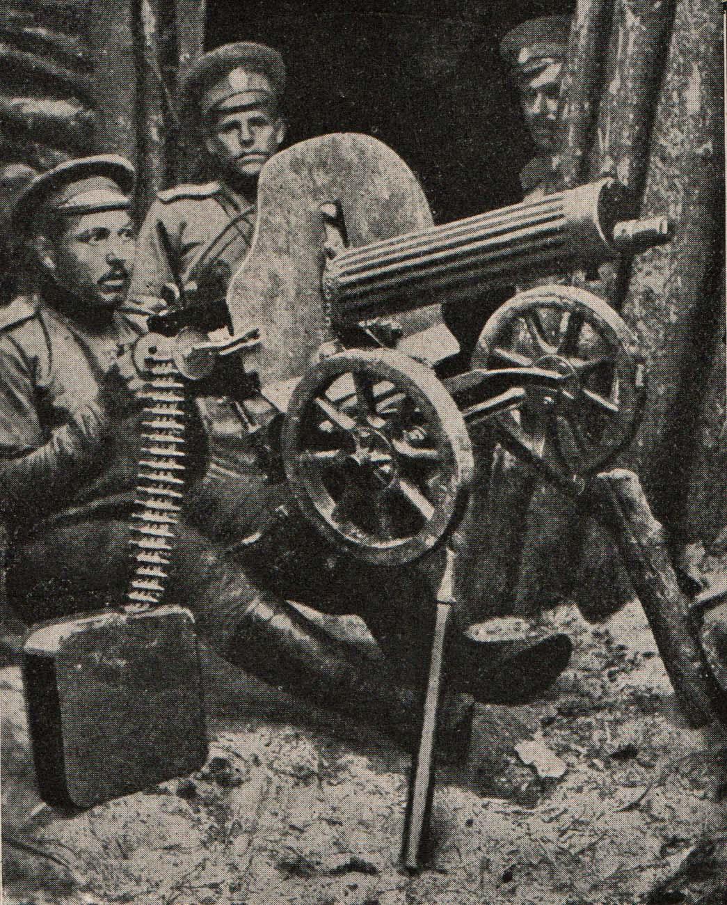 """29. september 1915. """"Otte kugler fra et maskingevær i maveregionen."""""""