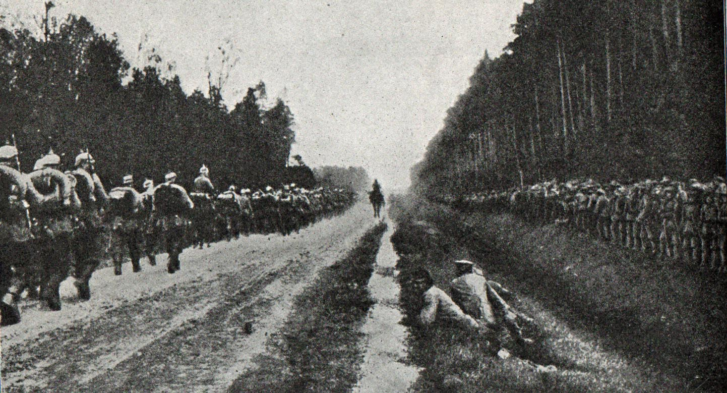 20. oktober 1914. Jeppe Østergaard på fortsat march.