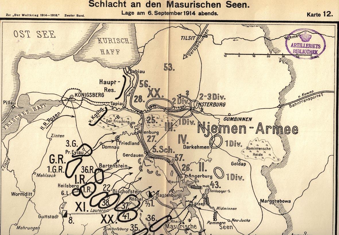 6. september 1914. Landwehr Infanterie Regiment nr. 84 ved de masuriske søer