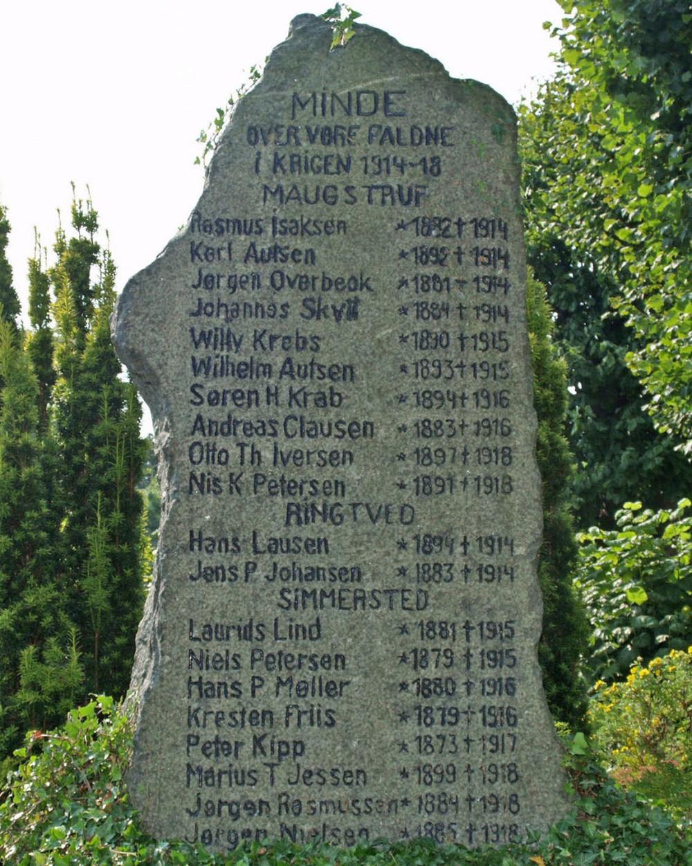 Mindesten, Maugstrup Kirkegård