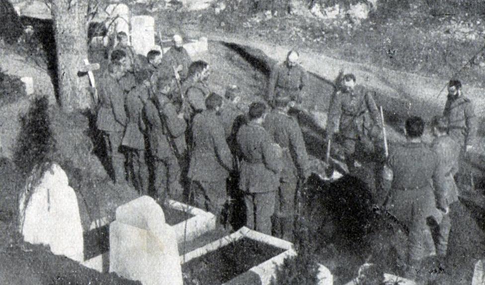 """22. august 1917. Begravelse ved Ypres: """"I dag er det ham, i morgen er det måske mig …"""""""