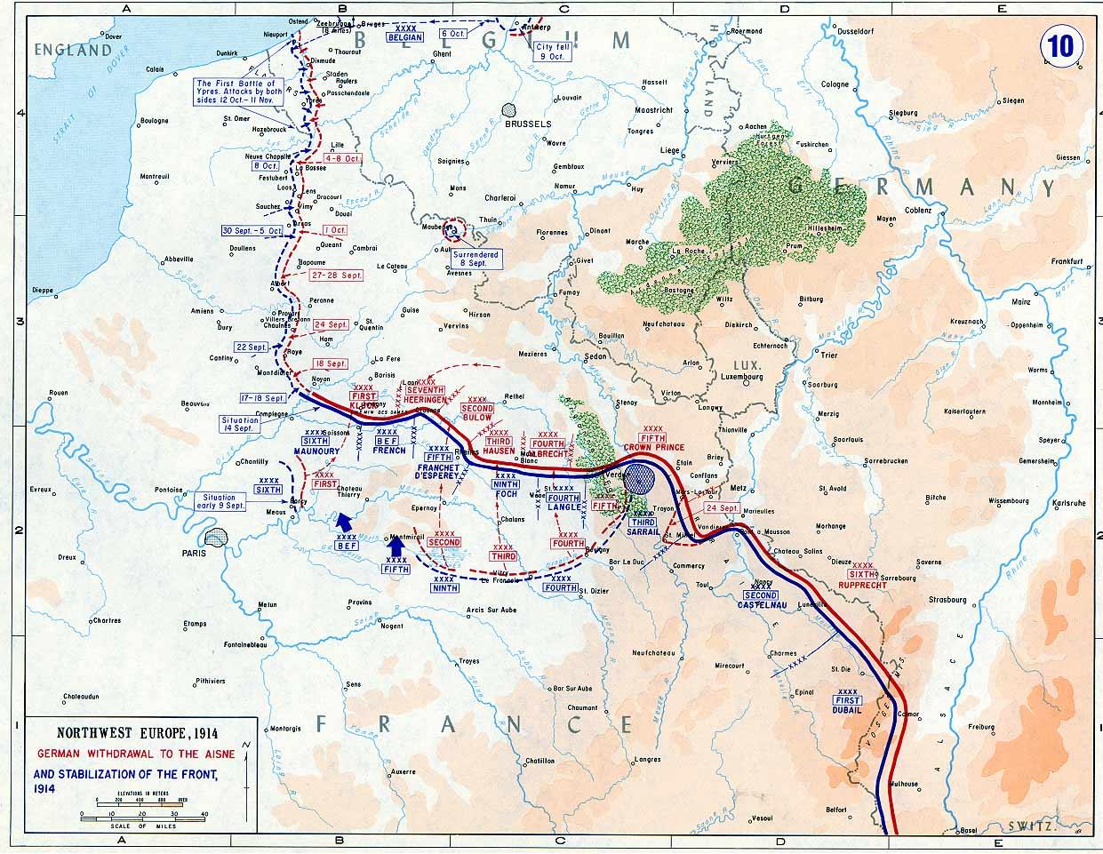 13. september 1914. Tyskerne trænges tilbage.