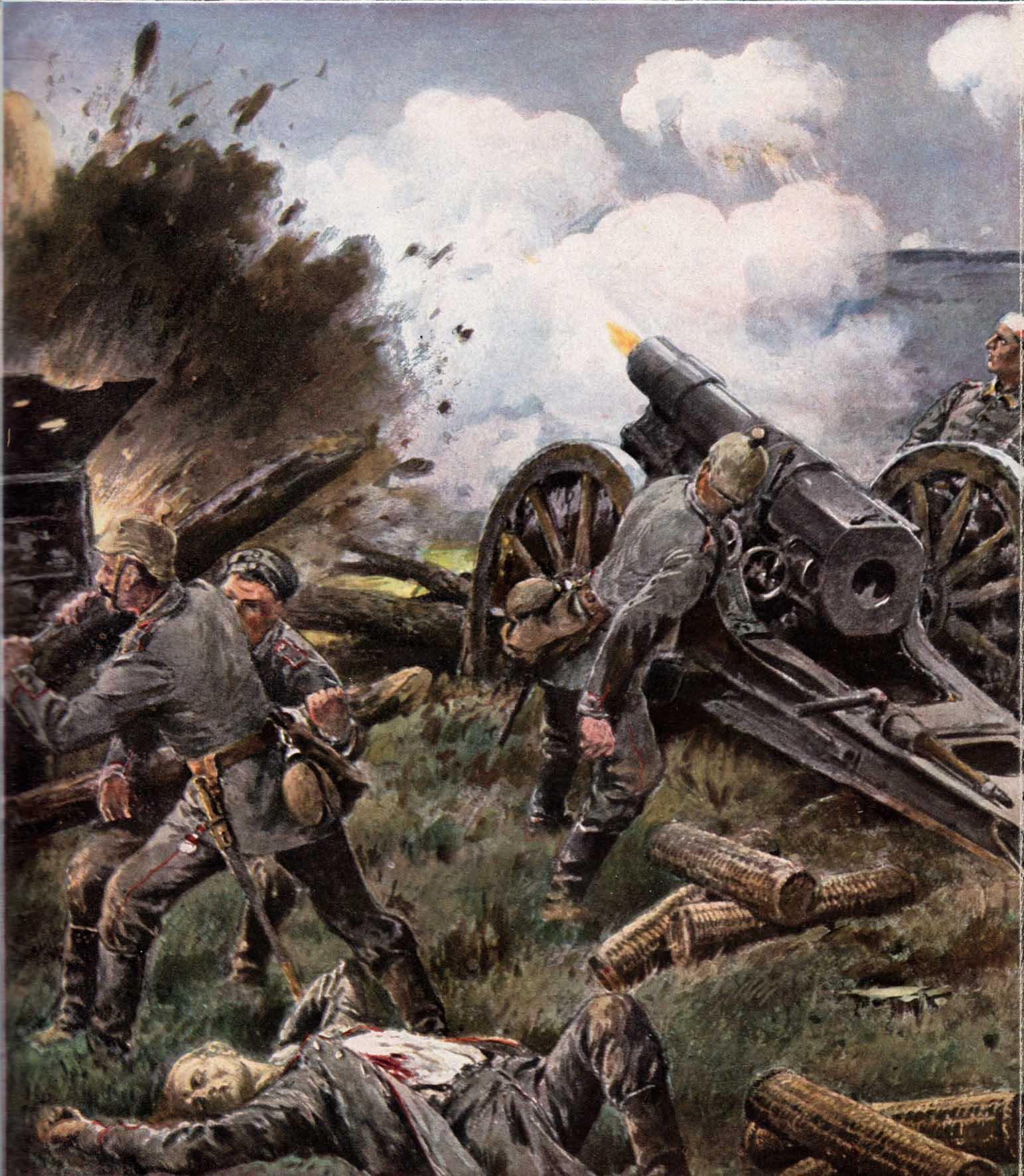 27. februar 1916. Ved Navarin: Artilleriet indleder stormen