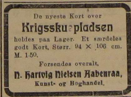 15. september 1914. Annonce: De nyeste kort over krigsskuepladsen